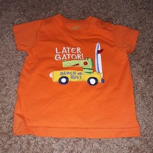 Carter's 6 Months Later Gator Orange T-Shirt